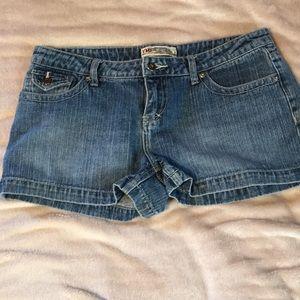 YMI blue jean shorts.